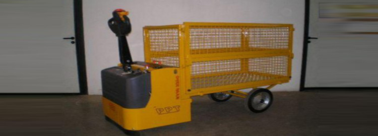 Powered Pallet Truck With Cage