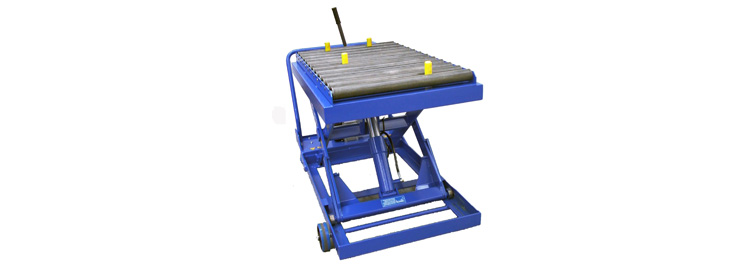 Mobile Scissor Lift with Roller Conveyor