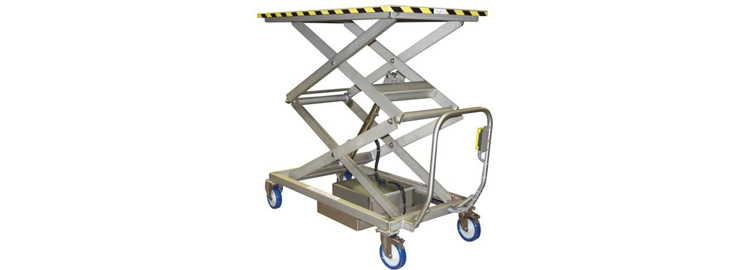 Stainless Steel Mobile Scissor Table