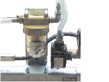 Water separator for moist and slightly wet goods, ideal for water cutting machines