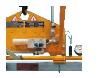 """""""Pneumatic Tool"""" for compressed air operation and pneumatic warning unit"""