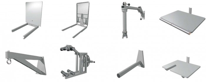 assorted work positioner attachments